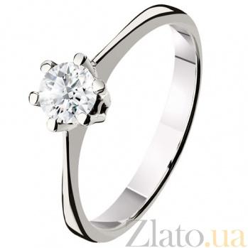 Кольцо из белого золота с бриллиантом Вирджиния KBL--К1414/бел/брил