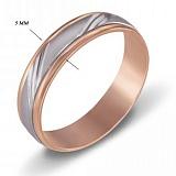 Обручальное кольцо из красного золота Счастливый путь