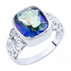 Серебряное кольцо Дебора с топазом мистик