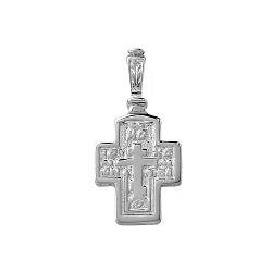 Серебряный крест Спаситель