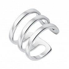 Серебряное тройное кольцо с разомкнутой шинкой 000133711