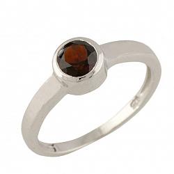 Серебряное кольцо Эрма с гранатом