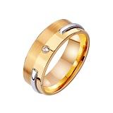 Золотое обручальное кольцо Счастливый век с фианитом
