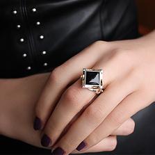 Серебряное кольцо с золотой вставкой и авантюрином Этюд