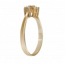 Кольцо из желтого золота Сусанна с цитрином и бриллиантами