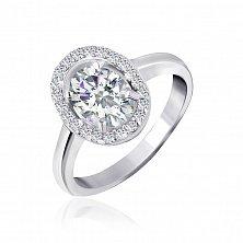 Серебряное кольцо Матильда с прозрачными фианитами