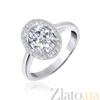 Серебряное кольцо Матильда с прозрачными фианитами 000025510