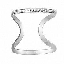 Золотое миди-кольцо с фианитами Адриатика