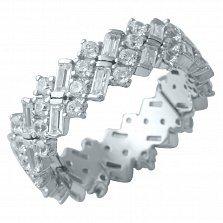 Серебряное кольцо Шакира с фианитами