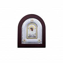 Икона Божьей Матери Семистрельная из серебра с позолотой