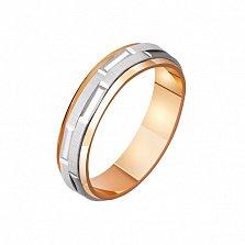Золотое обручальное кольцо Внутреннее свечение
