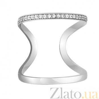 Золотое миди-кольцо с фианитами Адриатика 000032759