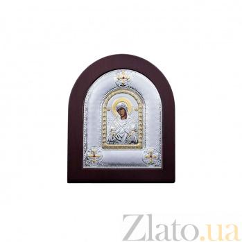 Икона Божьей Матери Семистрельная из серебра с позолотой AQA--MA/E2114BX