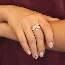 Серебряное кольцо Полет ласточки с фианитами
