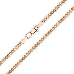 Браслет из красного золота в плетении двойной якорь 000141612