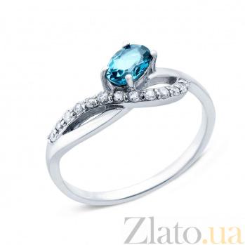 Серебряное кольцо с топазом Лазурия AQA--R00963TLB