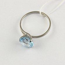 Золотое кольцо с голубым топазом Селесте