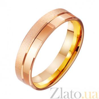 Золотое обручальное кольцо Счастливая звезда TRF--4111225