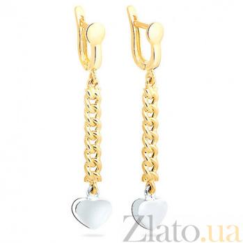 Золотые серьги Лулу SUF--101856ж