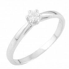 Серебряное кольцо Лина с цирконием
