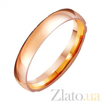 Золотое обручальное кольцо Счастье TRF--411412