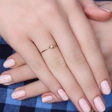 Золотое кольцо Примула с бриллиантом