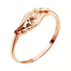 Серебряное кольцо с позолотой 000035160