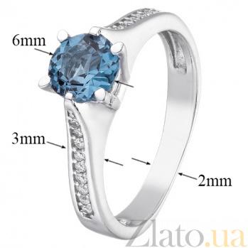 Серебряное кольцо с топазом и фианитами Флавия 1834/9р топаз