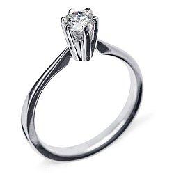 золотое кольцо Единственная с бриллиантом