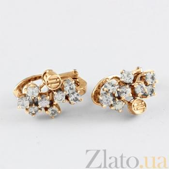 Сережки из золота с фианитами Watch me VLN--213-1391-10