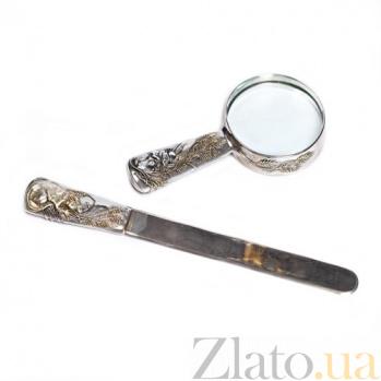 Нож для бумаги и лупа Крыска 619-620