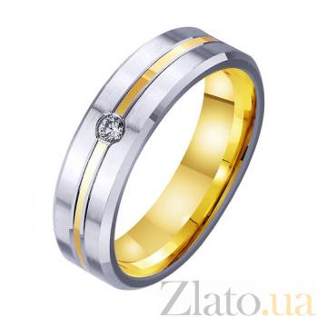 Золотое обручальное кольцо Шепот любви с фианитом TRF--4521758