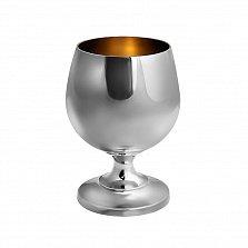 Серебряный бокал для коньяка Korpus с внутренней позолотой, 50мл