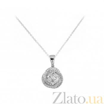 Колье из белого золота Январская роза с бриллиантами 000081285