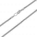 Браслет из серебра Нормандия в плетении плоский снейк, 2,5мм