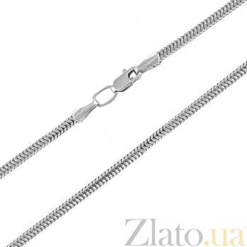 Браслет из серебра Нормандия в плетении плоский снейк, 2,5мм 000070929