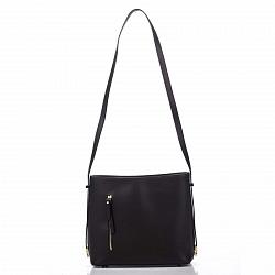 Кожаная сумка на каждый день Genuine Leather 8619 коричневого цвета с одним отделением на молнии
