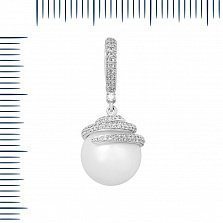 Кулон из белого золота Маджеста с жемчугом и бриллиантами