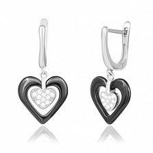 Серьги из серебра с керамикой и фианитами Romantic Date