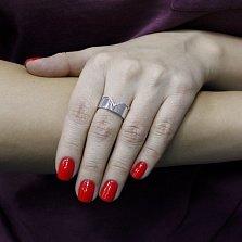 Серебряное кольцо Катманду с фианитами