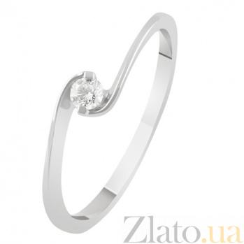 Золотое кольцо с бриллиантом Селия KBL--К1958/бел/брил