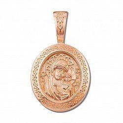 Ладанка из красного золота Казанская Божья Матерь 000132186