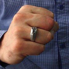 Серебряный перстень с сапфиром Сила