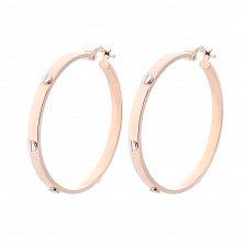 Золотые серьги-кольца Джойс в стиле Картье