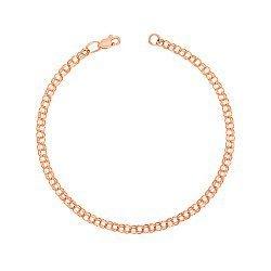 Золотой браслет Деннис в красном цвете в плетении бисмарк