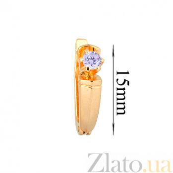 Серьги из желтого золота с фианитами Утонченность ONX--с01621