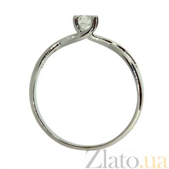 Золотое кольцо в белом цвете с бриллиантом Блума 000021422