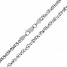 Серебряная цепь Монреаль с родием, 5 мм