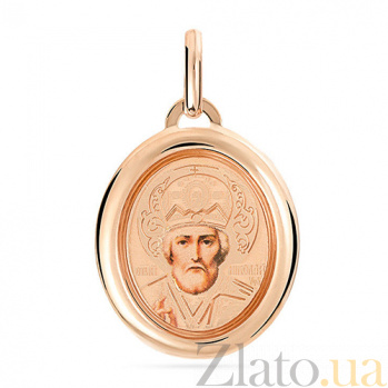 Золотая ладанка Николай Чудотворец SUF--401701рц