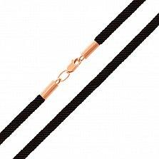 Шелковый шнурок Тибр с золотой застежкой